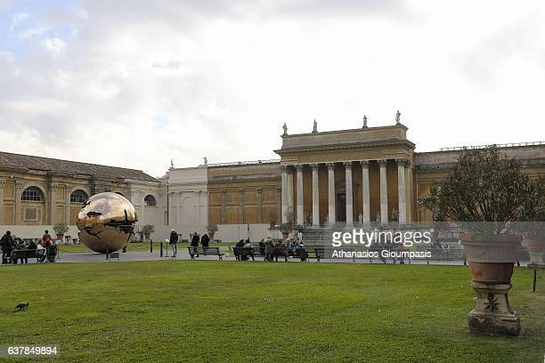 Sphere Within Sphere at the Vatican Museum at Vatican City on January 02 2017 in Rome Italy Sfera Conserva sculpture at the Vatican Museum by Italian...