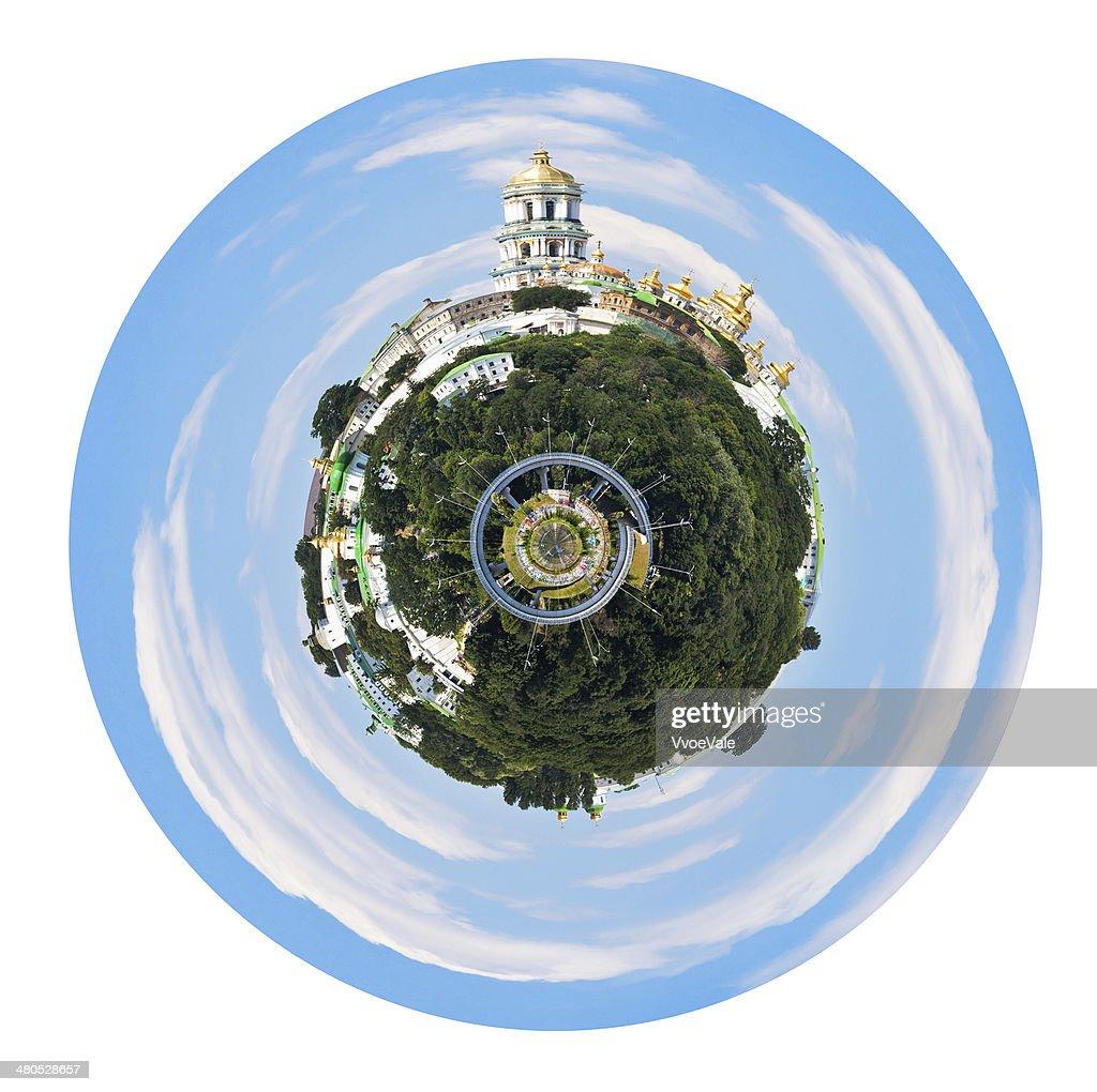 球形キエフ Pechersk Lavra の眺め : ストックフォト