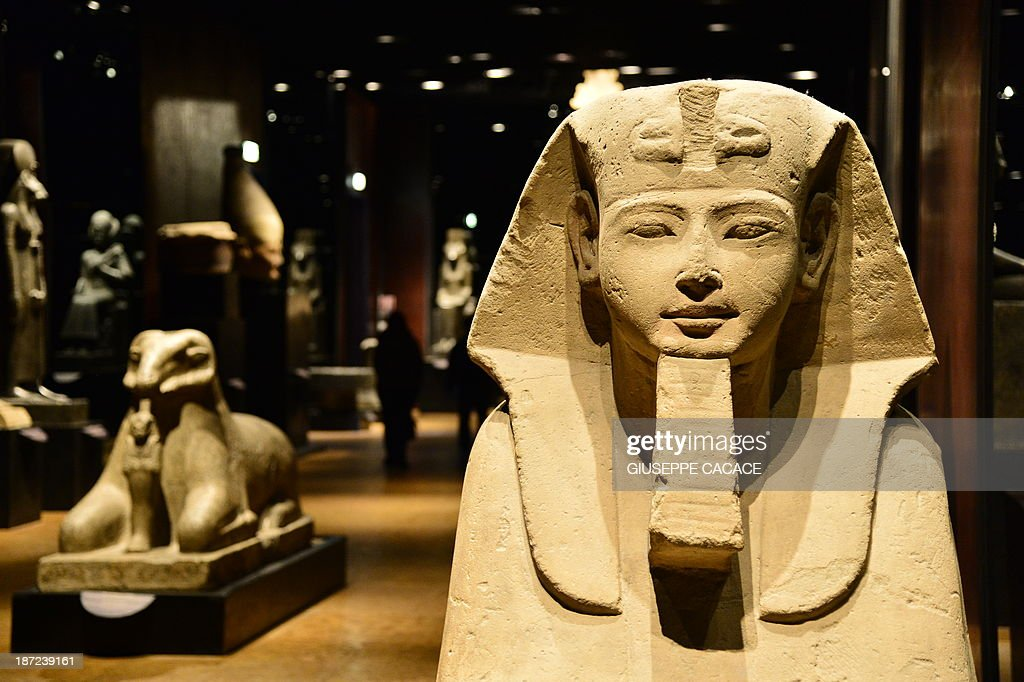 A Sphinx is pictured in the Statuary room at the Egyptian Museum in Turin on November 7, 2013. The 'Museo delle Antichità Egizie' in Turin is the only museum other than the Cairo Museum that is dedicated solely to ancient Egypt art and culture.