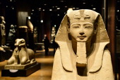 A Sphinx is pictured in the Statuary room at the Egyptian Museum in Turin on November 7 2013 The 'Museo delle Antichità Egizie' in Turin is the only...
