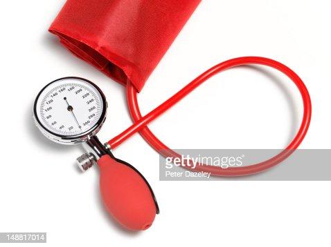 Sphygmomanometer, blood pressure gauge : Stock Photo
