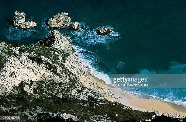 Spiaggia delle due sorelle near Ancona Regional Natural Park of the Conero Marche