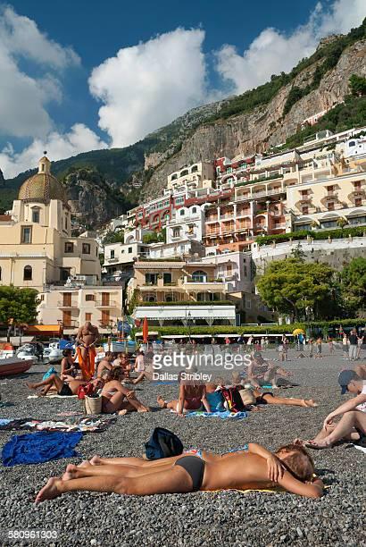 Spiaggia Grande ( main beach ) in Positano