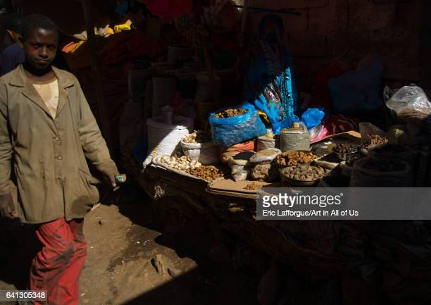 Spice and grain market in the old town on January 13 2017 in Harar Ethiopia