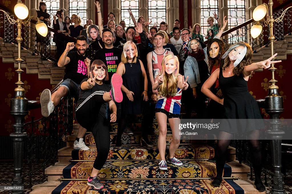Spice Girl fans celebrate ahead of the 20 year anniversary of the 'Wannabe' single release at St Pancras Renaissance Hotel on June 30, 2016 in London, England. The Spice Girls first single 'Wannabe' was released on 8th July 1996.