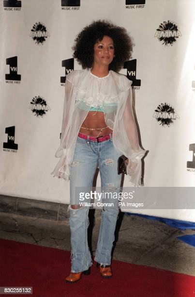 Spice Girl Mel G arrives at the 5th anniversary party of music station VH1 in London The party also launches the station's new show 'Emma' hosted by...