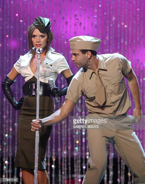 Spice Girls' Victoria Beckham performs during the Victoria's Secret fashion show at the Kodak Theatre in Hollywood California 15 November 2007 AFP...