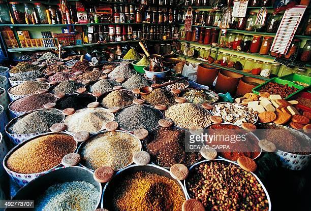 Spice shop Tauoranndt souk Morocco