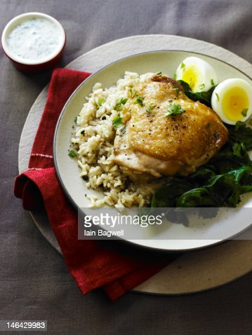 Spiced Chicken Pilaf with Eggs and Basmati Rice