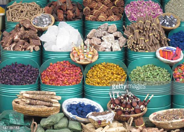 Spices in Moroccan Souks