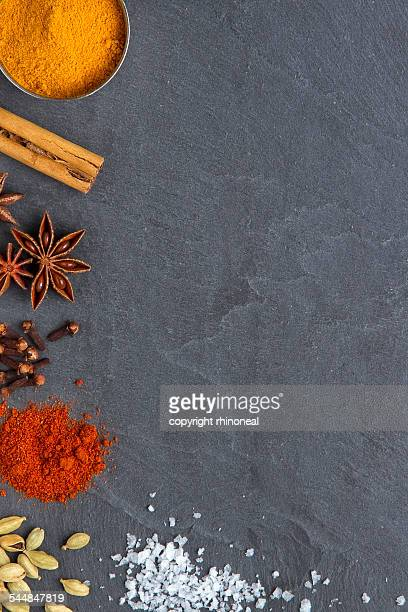 Spices on a slate