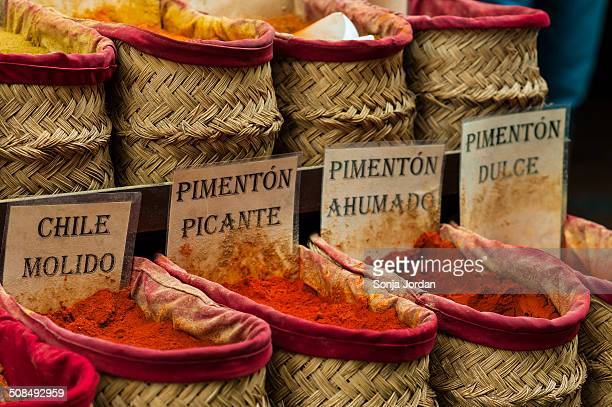 Spices on the market, Granada province, Andalucia, Spain