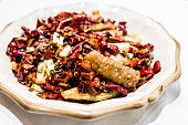 Spicy Deep Fried Pig Intestine