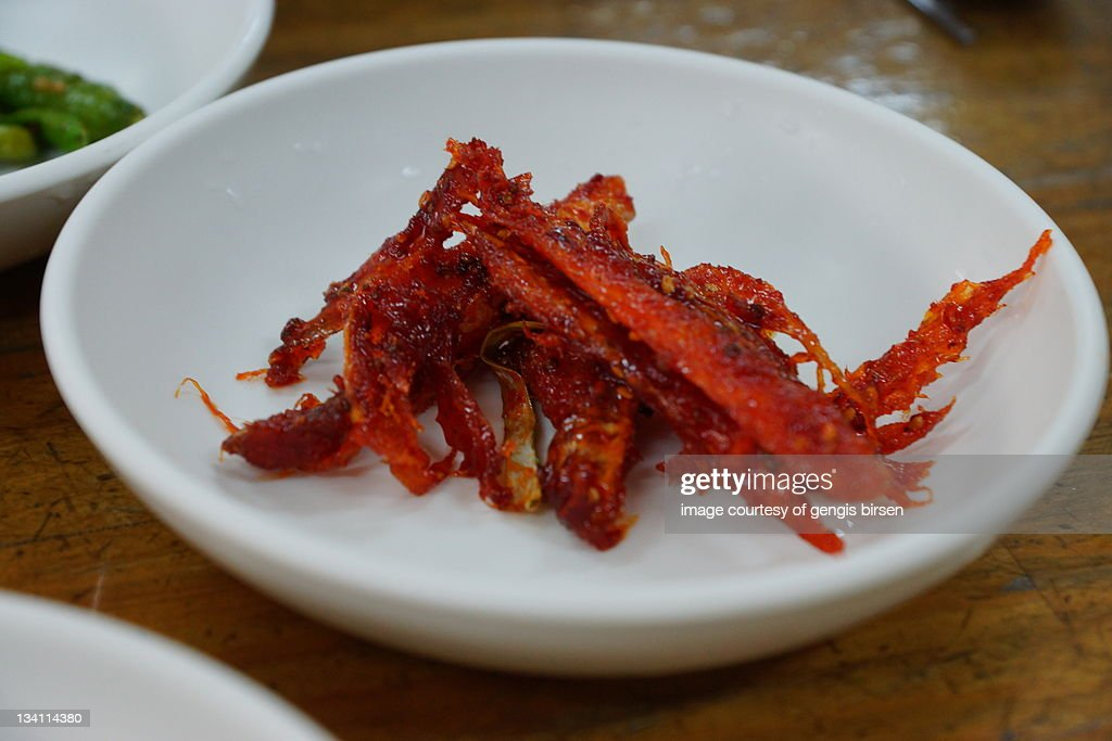 Spicy dried fish : Stock Photo