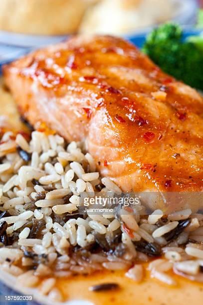 Glaçage Darne de saumon épicé