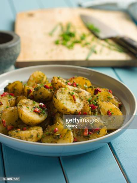 Spicy herbs potatoes salad