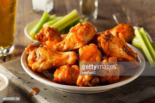 Spicy Homemade Buffalo Wings : Stock Photo