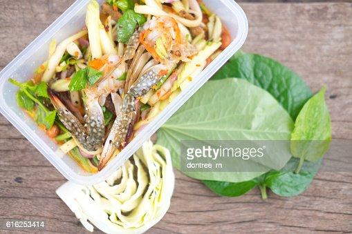 Spicy mango, Thai food : Stock Photo