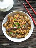 Spicy szechuan fish fragrant eggplant