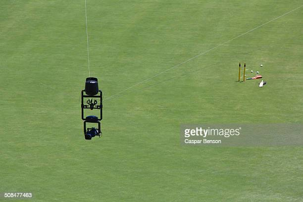 Spider camera over cricket field