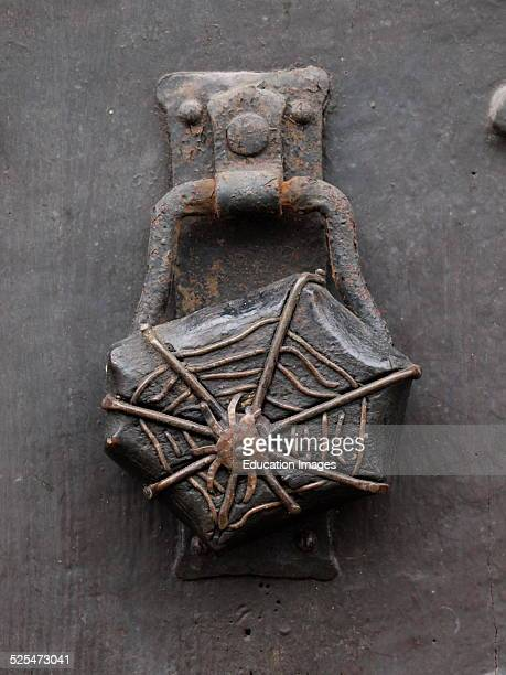 Spider in web door knocker UK