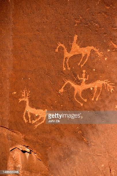 Spider Rock petroglyphs, Canyon de Chelly.