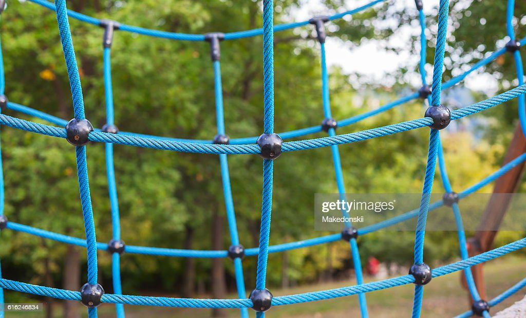Spider web wicker from ropes. : Foto de stock