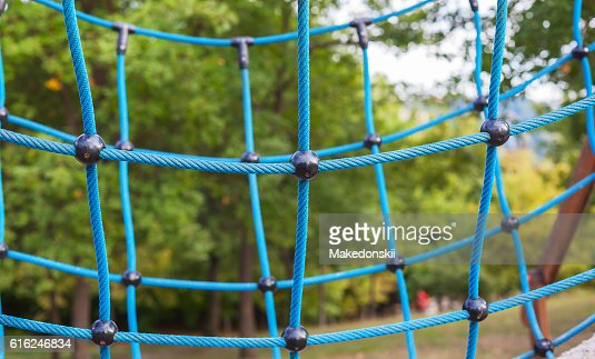 Spider web wicker from ropes. : Foto stock