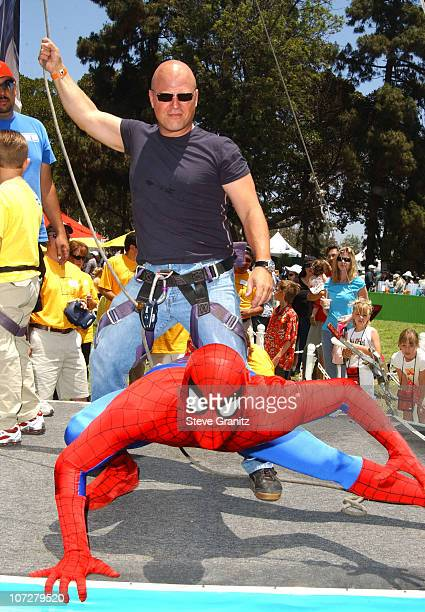 SpiderMan and Michael Chiklis at the 2004 Target A Time for Heroes Celebrity Carnival to benefit the Elizabeth Glaser Pediatric AIDS Foundation