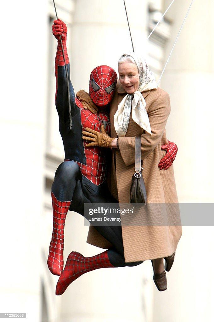 "Filming of ""Spider-Man 2"" on Location in Lower Manhattan"