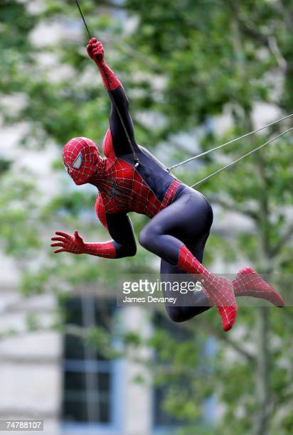 SpiderMan at the Downtown Manhattan in New York City New York