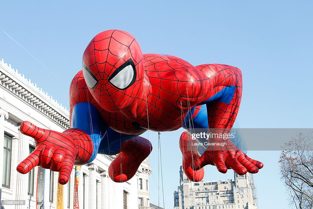 Spiderman balloon floats at the 86th Annual Macy's Thanksgiving Day Parade on November 22, 2012 in New York City.