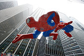 Spiderman balloon floats at the 88th Annual Macys Thanksgiving Day Parade at on November 27 2014 in New York New York