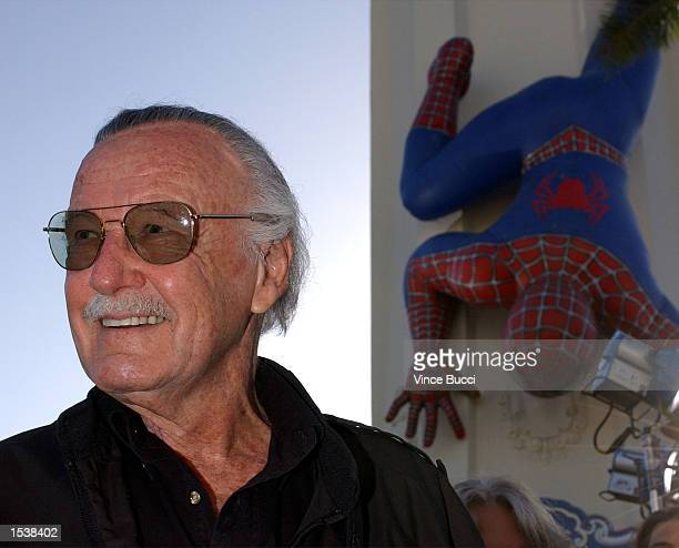 SpiderMan comic book creator Stan Lee arrives at the premiere of the film 'SpiderMan' April 29 2002 in Los Angeles CA