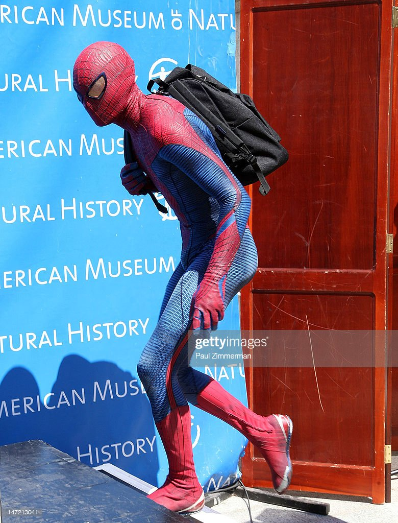 Spiderman delivers a Chilean Rose Tarantula to the American Museum of Natural History on June 27, 2012 in New York City.