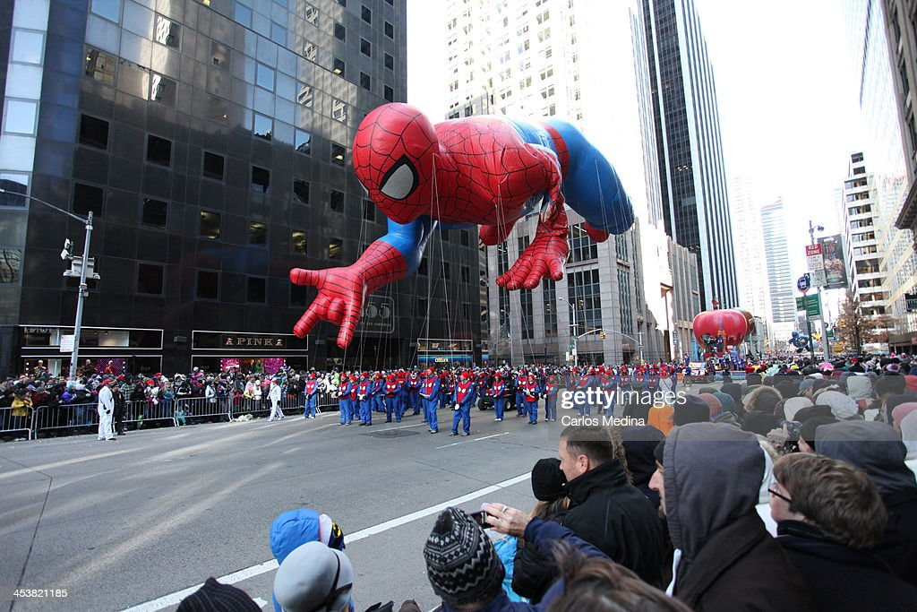 CONTENT] Spiderman floats down 6th Ave in the 2013 Macy's Thanksgiving Day Parade