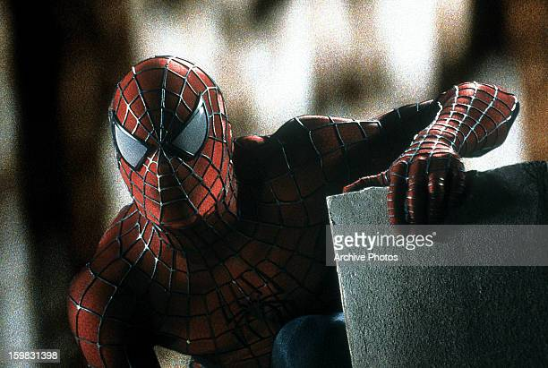 Spiderman in a scene from the film 'Spiderman' 2002
