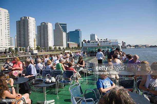 Spido boat trips offer tourist excursion visits on the River Maas around the Port of Rotterdam Netherlands