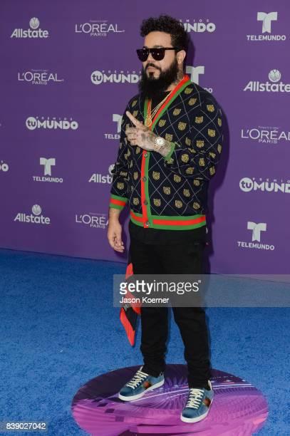 SpiffTV arrives at Telemundo's 2017 'Premios Tu Mundo' at American Airlines Arena on August 24 2017 in Miami Florida