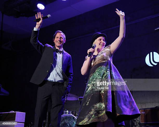Spike Jonze and Lena Dunham perform at the 2014 The Lowline AntiGala Benefit Dinner at Skylight Modern on October 8 2014 in New York City