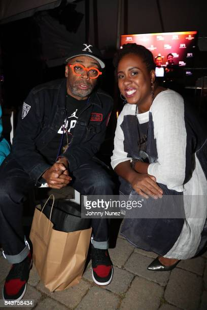 Spike Lee and Amanda Stephen Attend Harlem's Fashion Row at La Marina Restaurant Bar Beach Lounge on September 6 2017 in New York City