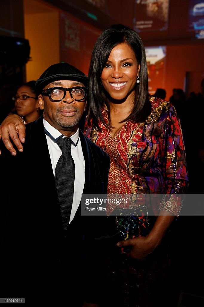 Spike Lee and Ilyasah Shabazz pose during the 46th Annual NAACP Image Awards Postshow Gala Celebration Sponsored By Hyundai held at the Pasadena...