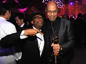 Spike Lee and John Ridley attend the 2014 Vanity Fair Oscar Party Hosted By Graydon Carter on March 2 2014 in West Hollywood California