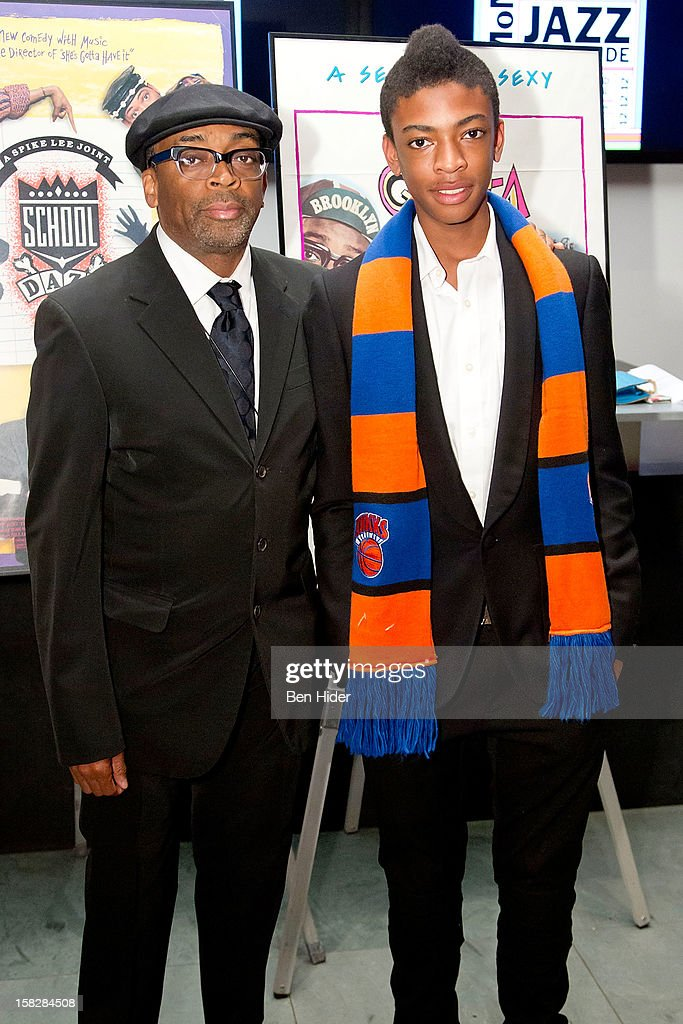 Spike Lee and son Jackson Lee attends The Museum of Modern Art's Jazz Interlude Gala at MOMA on December 12, 2012 in New York City.
