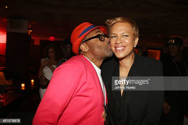 Spike Lee and Tonya Lewis Lee attend 'Da Sweet Blood Of Jesus' cast and crew special screening after party at Hudson Hotel on June 23 2014 in New...