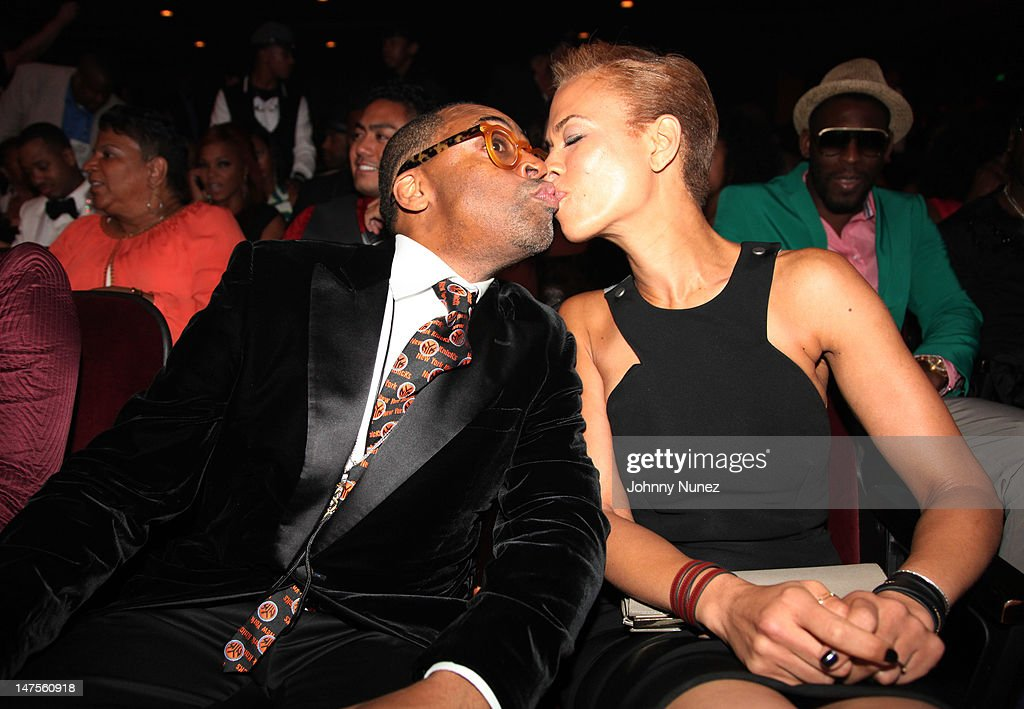 <a gi-track='captionPersonalityLinkClicked' href=/galleries/search?phrase=Spike+Lee&family=editorial&specificpeople=156419 ng-click='$event.stopPropagation()'>Spike Lee</a> and <a gi-track='captionPersonalityLinkClicked' href=/galleries/search?phrase=Tonya+Lewis+Lee&family=editorial&specificpeople=591625 ng-click='$event.stopPropagation()'>Tonya Lewis Lee</a> attend the 2012 BET Awards at The Shrine Auditorium on July 1, 2012 in Los Angeles, California.