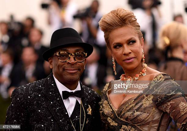 Spike Lee and Tonya Lewis Lee attend the 'China Through The Looking Glass' Costume Institute Benefit Gala at the Metropolitan Museum of Art on May 4...