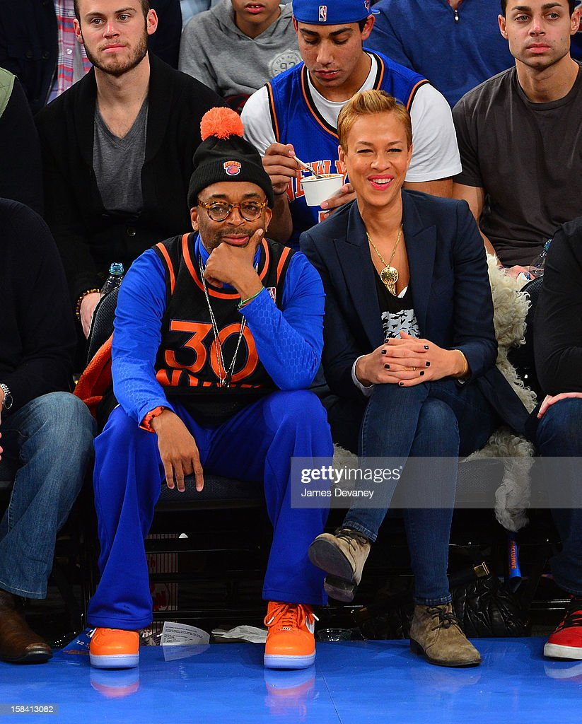 <a gi-track='captionPersonalityLinkClicked' href=/galleries/search?phrase=Spike+Lee&family=editorial&specificpeople=156419 ng-click='$event.stopPropagation()'>Spike Lee</a> and <a gi-track='captionPersonalityLinkClicked' href=/galleries/search?phrase=Tonya+Lewis+Lee&family=editorial&specificpeople=591625 ng-click='$event.stopPropagation()'>Tonya Lewis Lee</a> attend the Cleveland Cavaliers vs New York Knicks game at Madison Square Garden on December 15, 2012 in New York City.