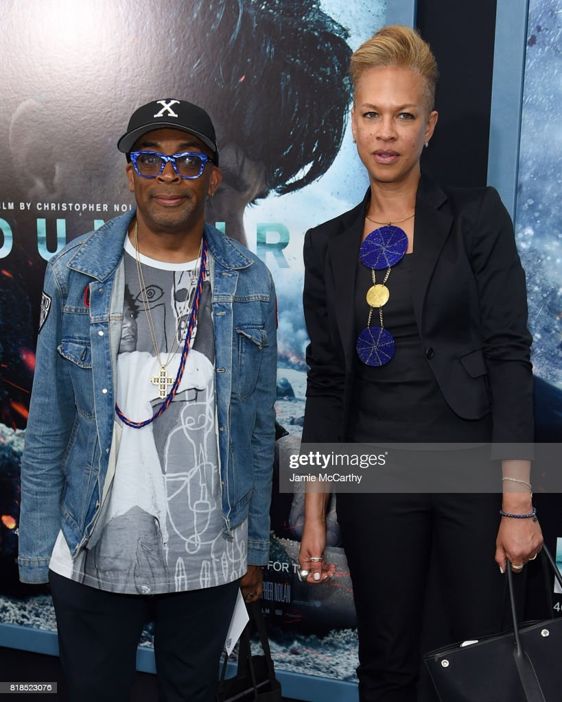 Spike Lee and Tonya Lewis Lee attend the 'DUNKIRK' New York Premiere on July 18, 2017 in New York City.