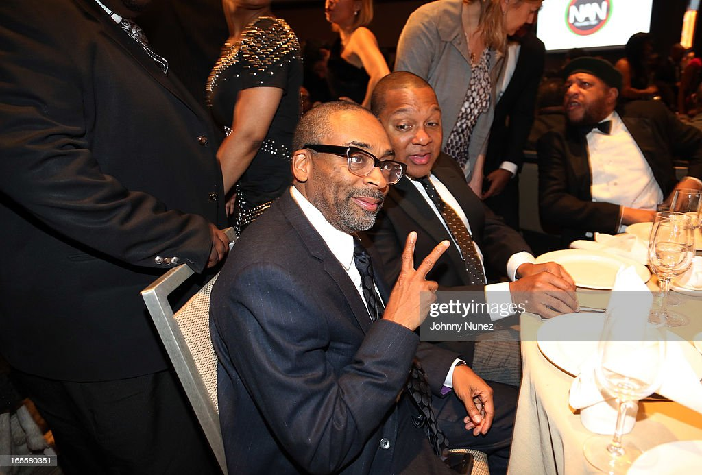 Spike Lee and Wynton Marsalis attend the 2013 Keepers Of The Dream Awards at the Sheraton New York Hotel & Towers on April 4, 2013, in New York City.